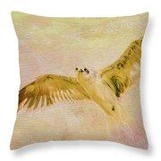 Dreamy Flight Throw Pillow by Deborah Benoit