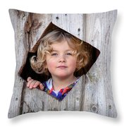 Dreamy Girl Throw Pillow