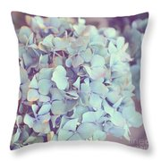 Dreamy Image Of Hydrangea Flower Throw Pillow