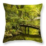 Dreamy Japanese Garden Throw Pillow by Sebastian Musial