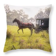 Dreamy Morning Throw Pillow