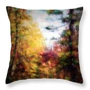 Dreamy Nature Walk Throw Pillow