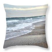 Dreamy Ocean Beach North Carolina Coastal Beach  Throw Pillow by Kathy Fornal