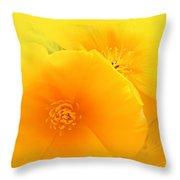 Dreamy Poppies Throw Pillow