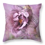 Dreamy Purple Lavender Impressionistic Abstract Floral Art Photography Throw Pillow