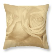 Dreamy Roses Throw Pillow