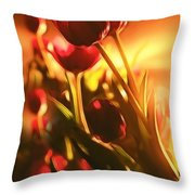 Dreamy Tulips Throw Pillow