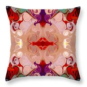 Drenched In Awareness Abstract Healing Artwork By Omaste Witkows Throw Pillow