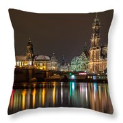 Dresden The Capital Of Saxony II Throw Pillow