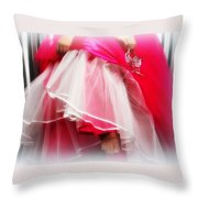 Dress - Gown - Pageant Throw Pillow