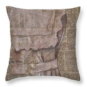 Dress Throw Pillow by Kathy Weidner