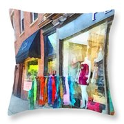 Hoboken Nj Dress Shop Throw Pillow