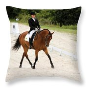 Dressage Test Throw Pillow