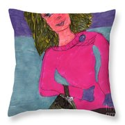 Dressed Up And Going Out Throw Pillow