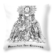 Dressing For Success 1558-1603 Throw Pillow