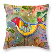 Drew Bird Throw Pillow