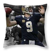Drew Brees Throw Pillow