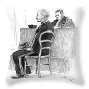 Dreyfus Affair 1899 Throw Pillow