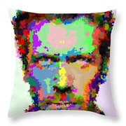Dr. House Portrait - Abstract Throw Pillow