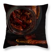 Dried Chilli Throw Pillow