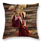 Dried Floral Throw Pillow