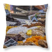 Dried Fruits Throw Pillow