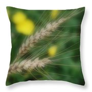 Dried Grass In Soft Focus Throw Pillow
