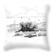 Drift Wood And Yucca Plants Throw Pillow