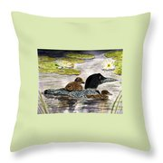 Drifting Among The Waterlilies Throw Pillow
