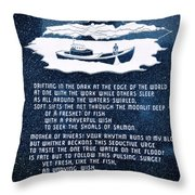 Drifting In The Dark Throw Pillow