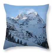 Drifting Snow Throw Pillow