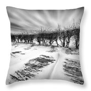 Drifting Snow Throw Pillow by John Farnan