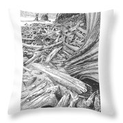 Critter In The Driftwood  Throw Pillow