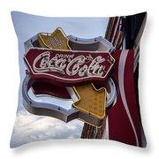 Drink Coca Cola Sign Throw Pillow