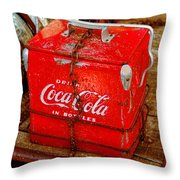 Drink Coke In Bottles Throw Pillow