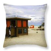 Drink Of The Day - Miami Beach - Florida Throw Pillow
