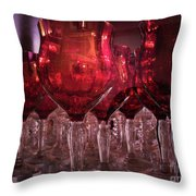 Drink Red Throw Pillow