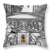 Drinking And Driving Throw Pillow
