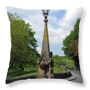 Drinking Fountain - Bakewell Throw Pillow