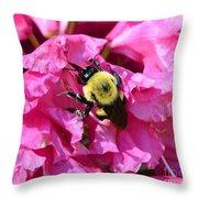 Drinking Nectar Throw Pillow
