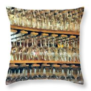 Drinks On The House In Smoky Gold Throw Pillow