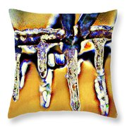 Dripping Away Throw Pillow