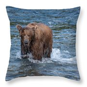 Dripping Grizzly Throw Pillow