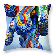 Dripping Lego Paint Throw Pillow