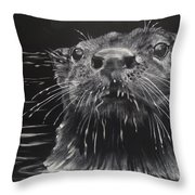 Drippy Throw Pillow by Sydne Spencer