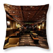 Driskill Hotel Upper Lobby Throw Pillow