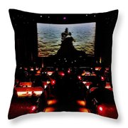 Drive-in Monster Movie Throw Pillow