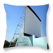Drive-in Movie Throw Pillow by Frank Romeo