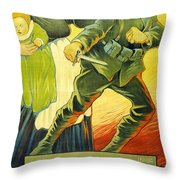 Drive Them Out Throw Pillow