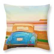 Drive To The Shore Throw Pillow